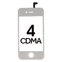 Digitizer & Frame Assembly for Apple iPhone 4 (CDMA) (White) (Closeout)