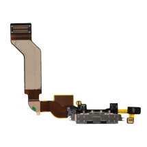 Flex Cable (Charge Port & Mic) for Apple iPhone 4S (Black)