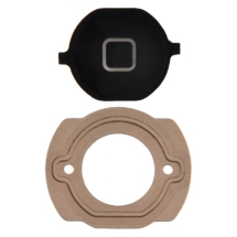 Home Button with Rubber Gasket for Apple iPhone 4S (Black) (Closeout)