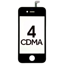 Digitizer & Frame Assembly for Apple iPhone 4 (CDMA) (Black) (Closeout)
