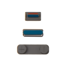 Button Set (Power, Volume, & Mute Toggle) for Apple iPhone 5S & SE (Space Gray) (Closeout)