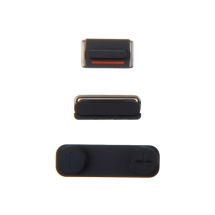 Button Set (Power, Volume Buttons, & Mute Toggle) for Apple iPhone 5 (Black) (Closeout)