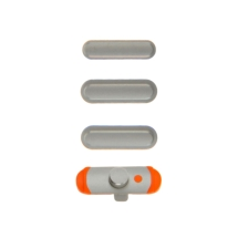 Button Set (Volume, Sleep Buttons, & Mute Toggle) for Apple iPad Mini (Silver) (Closeout)