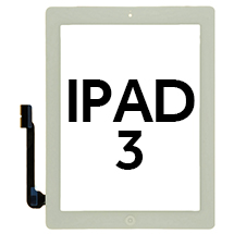 Digitizer (Adhesive & Home Button) for Apple iPad 3 (White)