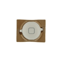 Home Button with Rubber Gasket for Apple iPhone 4S (White) (Closeout)