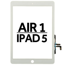 Digitizer (Adhesive & No Home Button) for Apple iPad Air & 5th Gen (White)