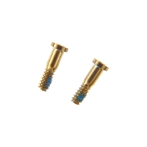 Bottom Screws (Set of 2) for Apple iPhone 5S & SE (1st Gen) (Gold) (Closeout)