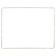 Frame with Adhesive for Apple iPad 3 (White)
