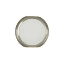 Cosmetic Home Button for Apple iPad Air 2 (White & Silver) (Closeout)