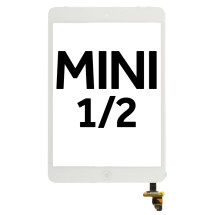Digitizer (Adhesive & Home Button) for Apple iPad Mini & Mini 2 (White) (Premium)