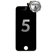 LCD, Digitizer & Frame Assembly for Apple iPhone 5 (Black) (Grade A)