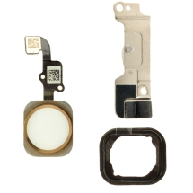 Home Button Assembly for Apple iPhone 6 (White with Gold Ring)