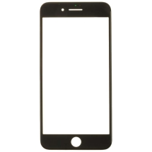 3in1 Glass Lens with OCA & Frame (No Adhesive) for Apple iPhone 8 Plus (Black)