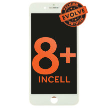 LCD, Digitizer & Frame Assembly for Apple iPhone 8 Plus (White) (Premium Evolve Incell)