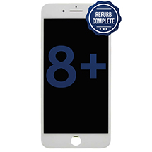 Complete LCD, Digitizer, & Frame Assembly for Apple iPhone 8 Plus (White) (Refurbished)