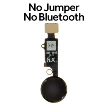 HX Universal Home Button (No Bluetooth, No Jumper) for Apple iPhones (7 to SE (2nd Gen)) (Black)