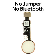 HX Universal Home Button (No Bluetooth, No Jumper) for Apple iPhones (7 to SE (2nd Gen)) (White & Rose Gold)