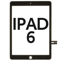 Digitizer (Adhesive & No Home Button) for Apple iPad 6 (2018) (Black) (Refurbished)