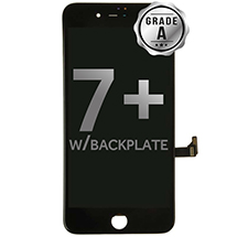 LCD, Digitizer & Frame Assembly for Apple iPhone 7 Plus (Black) (Grade A with Backplate)