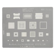 """Comprehensive IC Chip Stencil (MAC 5) for Apple MacBook Pro 13"""" (Late 2016-Mid 2017)"""