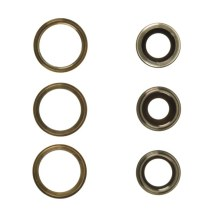 Glass Camera Lens with Bezel Set (Back, Set of 3) for Apple iPhone 12 Pro Max (Gold)