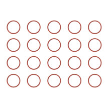 Camera Bezel Ring Set (Back, Set of 2) for Apple iPhone 11, 12, & 12 Mini (Red) (10 Pack)