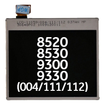 LCD (004/111/112) for BlackBerry 8520, 8530, 9300, 9330, Curve, Curve 3G (Closeout)