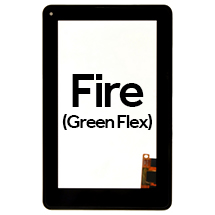 Digitizer with Frame for Amazon Kindle Fire (Green Flex) (Closeout)