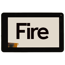 Digitizer with Frame for Kindle Fire (Orange Flex Cable) (Closeout)
