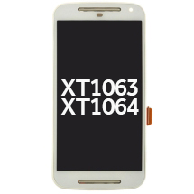 LCD, Digitizer & Frame Assembly for Motorola XT1063 XT1064 Moto G (2nd Gen) (White) (Closeout)