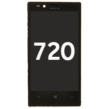 LCD, Digitizer, & Frame Assembly for Nokia Lumia 720 (Black) (Closeout)