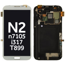 OLED, Digitizer, & Frame Assembly for Samsung Galaxy Note II (White) (Aftermarket)
