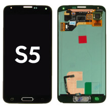 OLED & Digitizer Assembly for Samsung Galaxy S5 with Home Button Flex (Charcoal Black) (Aftermarket)