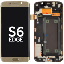 OLED, Digitizer, & Frame Assembly for Samsung Galaxy Galaxy S6 Edge (G925) (Gold Platinum) (OEM) (Closeout)