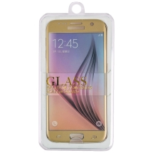 Tempered Glass Screen Protector for Samsung Galaxy S7 (Gold)