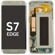 OLED, Digitizer & Frame Assembly for Samsung Galaxy S7 Edge (Silver) (Aftermarket)
