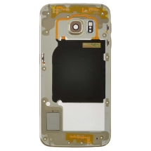 Housing (Mid Frame) for Samsung Galaxy S6 Edge (Gold Platinum) (Aftermarket) (Closeout)