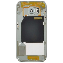 Housing (Mid Frame) for Samsung Galaxy S6 Edge (White Pearl) (Aftermarket) (Closeout)