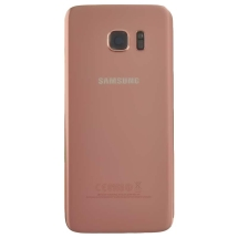 Back Glass for Samsung Galaxy S7 Edge (Pink Gold) (OEM) (Closeout)