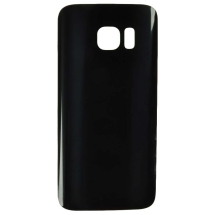 Back Glass for Samsung Galaxy S7 (Black) (Aftermarket)