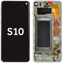 OLED, Digitizer, & Frame Assembly for Samsung Galaxy S10 (White) (Aftermarket)