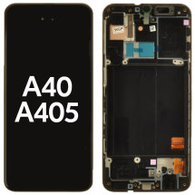 OLED, Digitizer & Frame Assembly for Samsung Galaxy A40 (A405) (Black) (OEM)