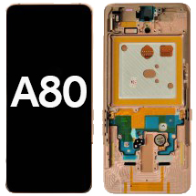 OLED, Digitizer & Frame Assembly for Samsung Galaxy A80 (Gold) (Aftermarket)