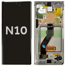 OLED, Digitizer & Frame Assembly for Samsung Galaxy Note 10 (N970) (Aura White) (OEM)