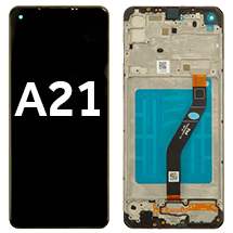 LCD, Digitizer, & Frame Assembly for Samsung Galaxy A21 (Black)
