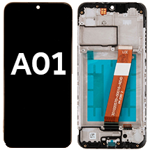 LCD, Digitizer, & Frame Assembly (USB C Port & Narrow FPC Connector) for Samsung Galaxy A01 (Black) (Aftermarket)