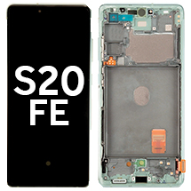 OLED, Digitizer, & Frame Assembly for Samsung Galaxy S20 FE (G780/781) (Cloud Mint) (OEM)