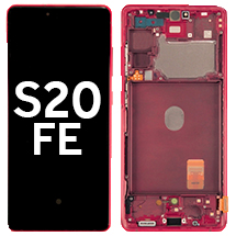 OLED, Digitizer, & Frame Assembly for Samsung Galaxy S20 FE (G780/781) (Cloud Red) (OEM)