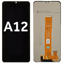 LCD & Digitizer Assembly for Samsung Galaxy A12 (Black)