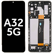 LCD, Digitizer, & Frame Assembly for Samsung Galaxy A32 5G (Black)